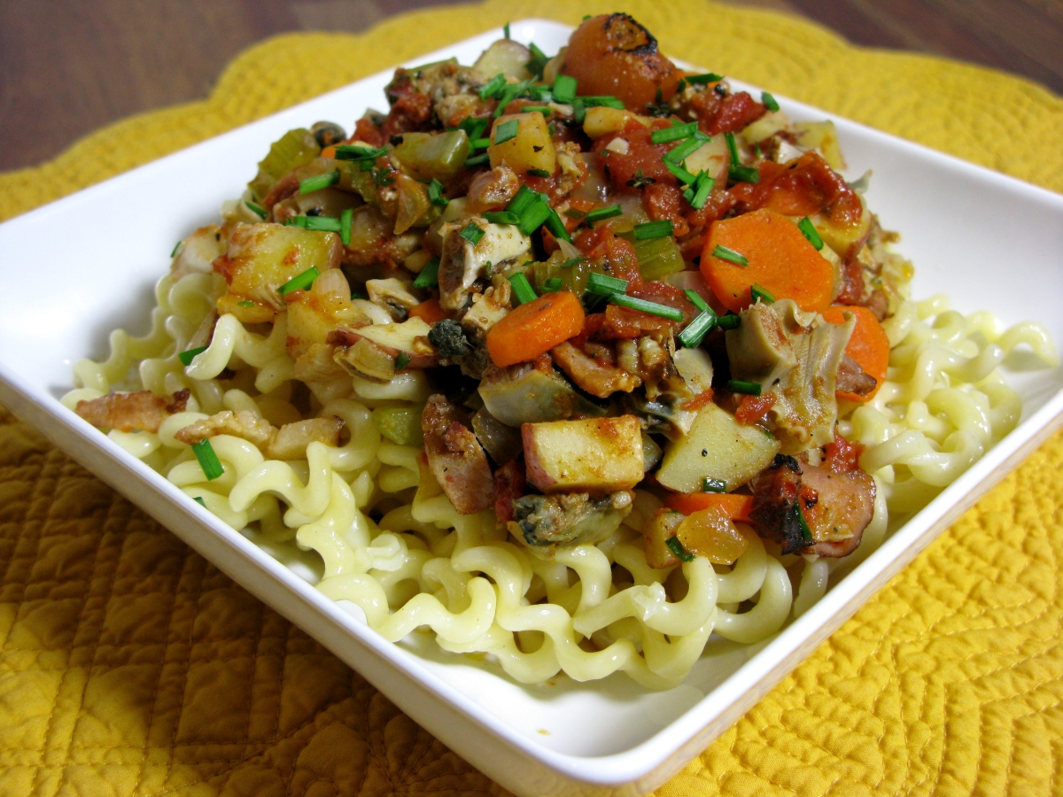 Manhattan Clam Chowder Pasta